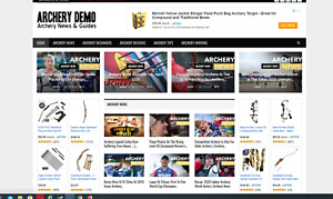 Archery News Guides Affiliate Product Website automated premium Designed