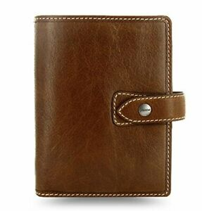 Filofax Malden Pocket Ochre Leather Pocket Organizer Planner Agenda Calendar