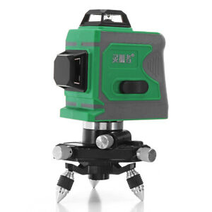12 Line 635nm 3d Green Light Laser Level Auto Self Leveling 360 rotary Measure
