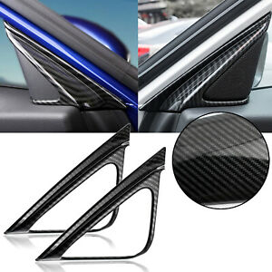 For Honda Accord 2018 Carbon Fiber Style Front Door Speaker A pillar Cover Trim