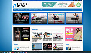 Womens Fitness Affiliate Product Website 100 Automated Premium Designed