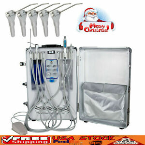 Portable Dental Delivery Unit Cart Air Compressor Scaler Curing Light 0 8mpa