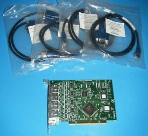 Ni Pci 8430 4 4 Channel Rs232 Board New Cables National Instruments tested