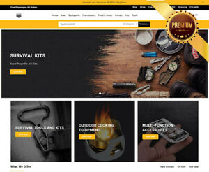 Dropshipping Website For Sale Own A Survival Store Ecommerce Business
