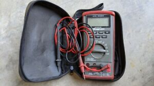 Snap on Auto range Digital Multimeter Eedm504d With Case And Alligator Clips