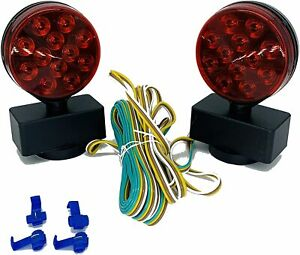 Magnetic Towing Trailer Light Kit Led 24 Leds Multi Function Dot
