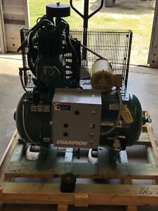 Champion Air Compressor Hr2 3 Two Stage 30 Gallon Tank 3 Phase 220 440 V