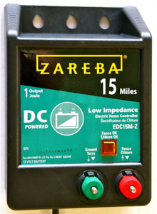 Zareba Edc15m z 15 mile Battery Operated Low Impedance Electric Fence Charger