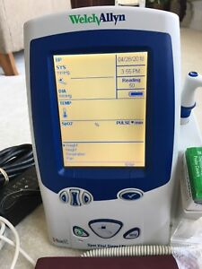 Welch Allyn Lxi 45mto Spot Vitals Monitor Spo2 Nibp And Temp new Battery