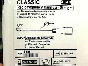 St Jude Medical Radiofrequency Cannula straight S 505 In Date 2021 Bx 10