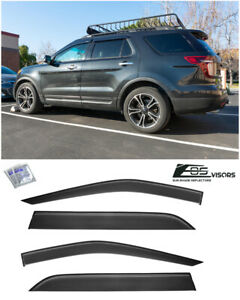 Eos Visors For 11 19 Ford Explorer Tape On Side Window Deflectors Rain Guards