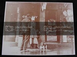 General Store Coca Cola  London Whiffs  Sepia Photography Card Reprint 1920s