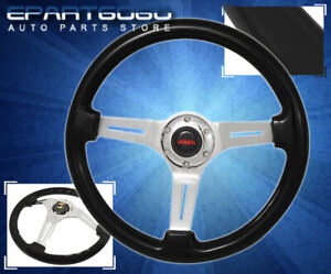 For Chevy 345mm Light Weight Steel Center Lgiht Brown Trim Steering Wheel Kit $73.99