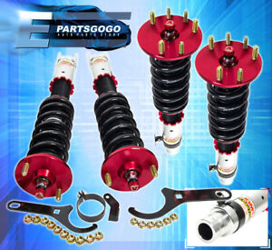 For 08 12 Accord Tsx Jdm Adjustable Suspension Lowering Coilover Spring Unit