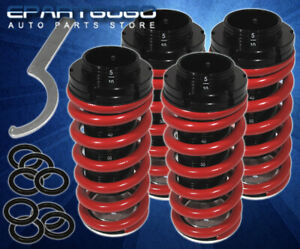 For 90 97 Honda Accord 92 96 Prelude Lowering Coil Red Scaled Coilover Springs