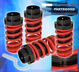 For 2002 2005 Hyundai Tiburon Suspension Adjustable Coilover Lowering Spring Red