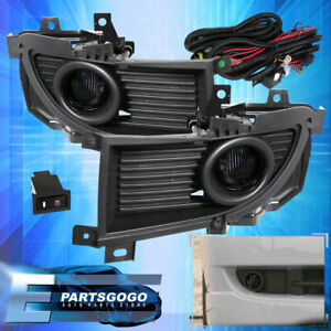 For 04 06 Mitsubishi Lancer Ralliart Front Fog Light Smoked Bulbs Wiring Switch