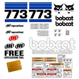 Bobcat 773 V2 Skid Steer 21pc Set Vinyl Decal Sticker Bob Cat Free Tool
