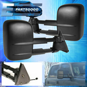 For 99 06 Chevy Silverado Gmc Sierra Power Extendable Side Towing Tow Mirror Set