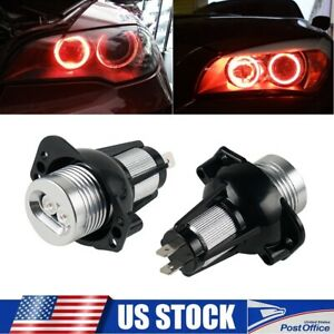 2x Red Angel Eyes Led Halo Ring Lights Bulbs Fits For Bmw E90 E91 328i 330i Lamp