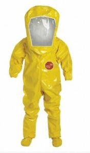 Ppe Hazmat Protective Suit Coveralls Level B Hood 3xl Ships In One Day