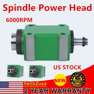 Power Head Spindle Motor 6000rpm Cnc Drilling Milling Tapping Spindle Unit