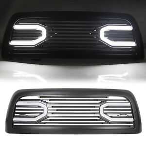 For 10 18 Dodge Ram 2500 3500 Big Horn Black Grille Replacement Shell Lights