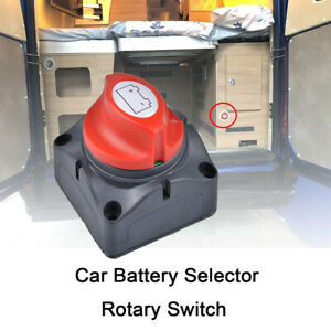 Car Rv Boat Battery Yacht Selector Isolator Disconnect Rotary Switch On