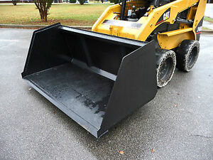 Bobcat Skid Steer Attachment 84 Chicken Turkey Litter Smooth Bucket Ship 199