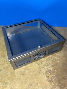 Glass Display Box Case Medals Awards Jewelry Collectibles Memorabilia Trinket