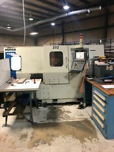 Hurco Tmm 8 Cnc Lathe 2008 Live Tooling Medical Under Power Video