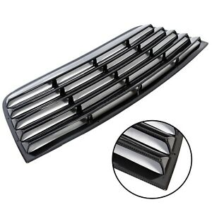 For 08 19 Dodge Challenger Carbon Color Rear Window Scoop Louver Sun Shade Cover