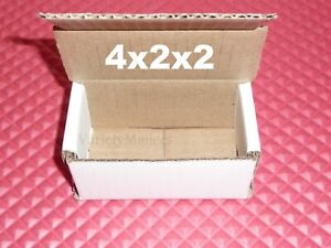 28 Small White Corrugated Boxes 4x2x2 Little Shipping Gift Storage Boxes