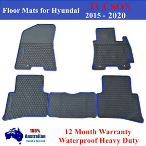 Waterproof Rubber Floor Mats Tailor Made For Hyundai Tucson 2015 2020 Red