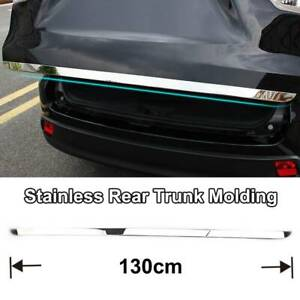 For Toyota Highlander 2014 2018 Chrome Rear Trunk Tailgate Door Cover Trim Strip