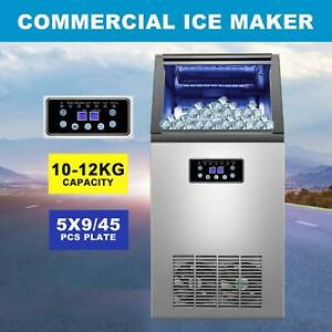 Built in Stainless Steel Commercial 110lbs 24h Ice Maker Portable Ice Machine