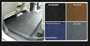 Black Molded Vinyl Flooring 1962 1965 Ford Fairlane 2dr Hardtop sedan Auto Trans
