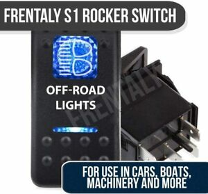 Rocker Switch Led Side Lights On Off Atv Utv Off Road Pickup Blue Lighted
