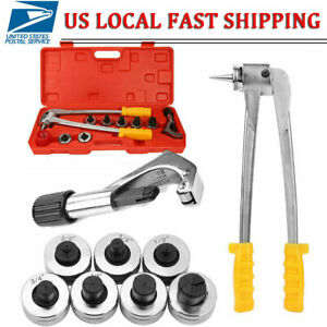 Ct 100 Plumbing Pipe Expander Tool Hvac Hydraulic Copper Heads Tube Swaging Kit
