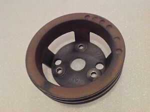 1966 1972 Chevy Truck W 283 327 350 Gm 3876326 2 Groove Crankshaft Pulley Oem