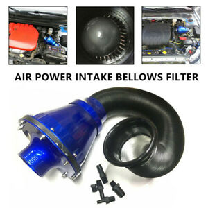 Car Truck Suv Universal Air Power Intake Bellows Filter Cold Air Inlet Cleaner