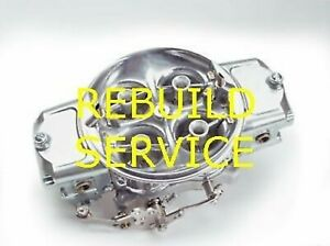 Holley Bg Carb Rebuild Service 4500 750 1050 1150 1250