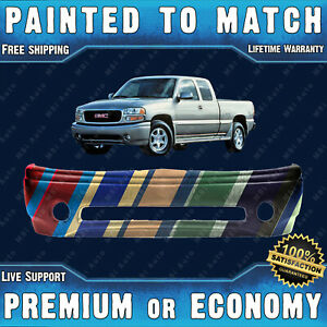 New Painted To Match Front Bumper For 2001 2006 Gmc Sierra Yukon Denali 01 06