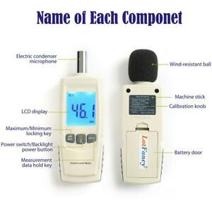 Digital Noise Sound Tester Level Meter Measurement 30 130db With Lcd Display