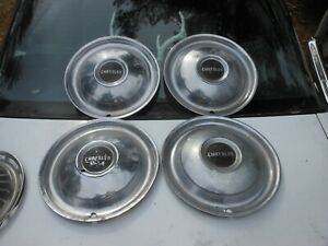 Set Of 4 1950 Chrysler Windsor Saratoga Hubcaps 15 Original Oem Vintage