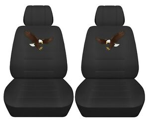 Front Set Car Seat Covers Fits 2005 2020 Toyota Tacoma With Eagle Design