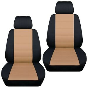 Front Set Car Seat Covers Fits 2005 2020 Toyota Tacoma Black And Tan