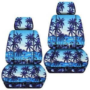 Front Set Car Seat Covers Fits 2005 2020 Toyota Tacoma Hawaill Blue Tree