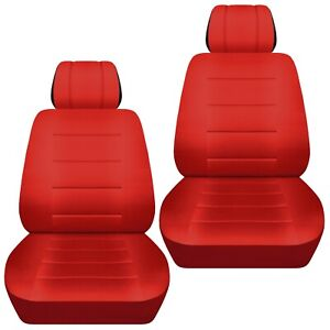 Front Set Car Seat Covers Fits 1997 2020 Toyota Camry Solid Red