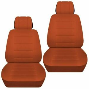 Front Set Car Seat Covers Fits Ford Escape 2005 2020 Solid Burnt Orange